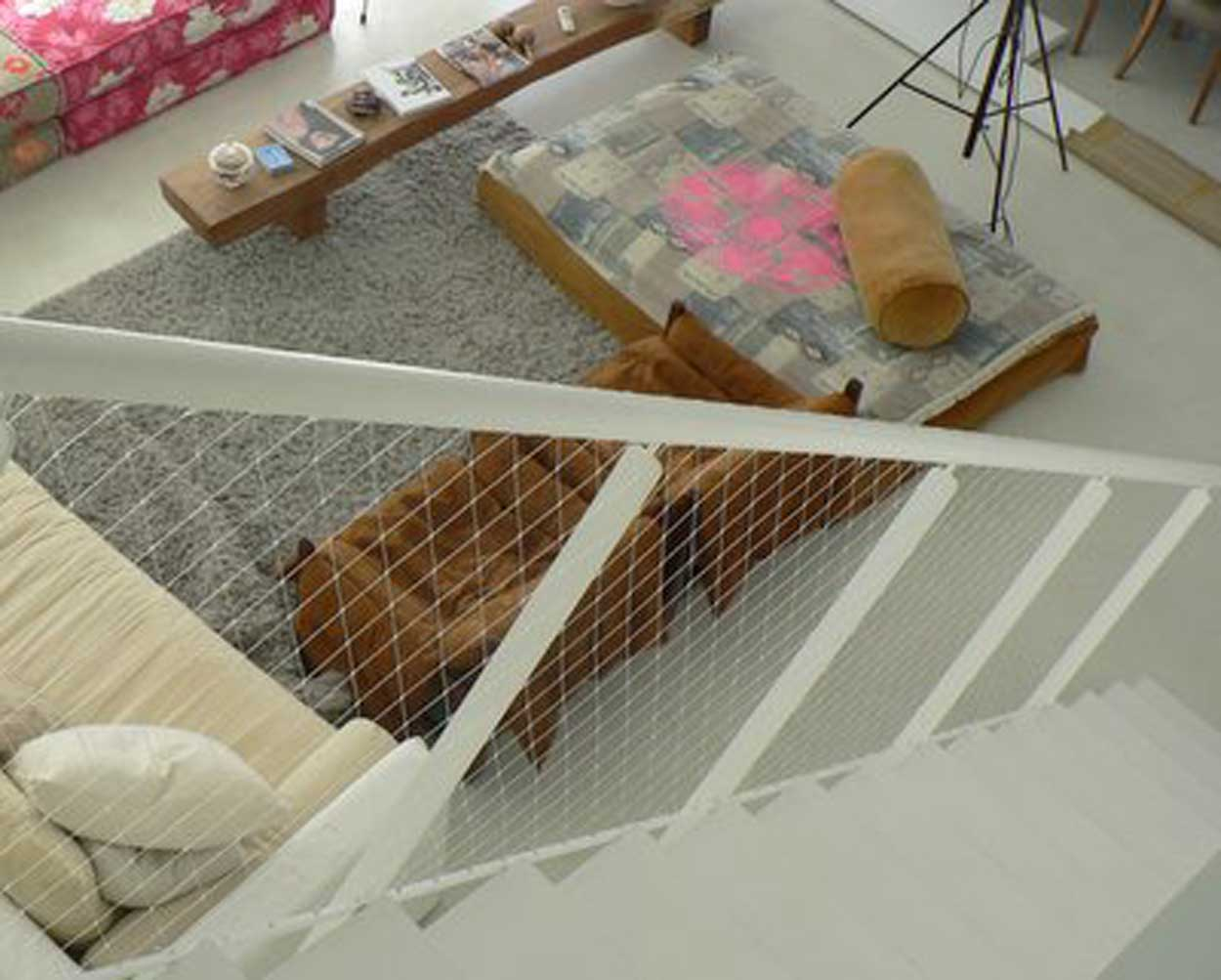 Delightful ... Safety Net For Stairs ...